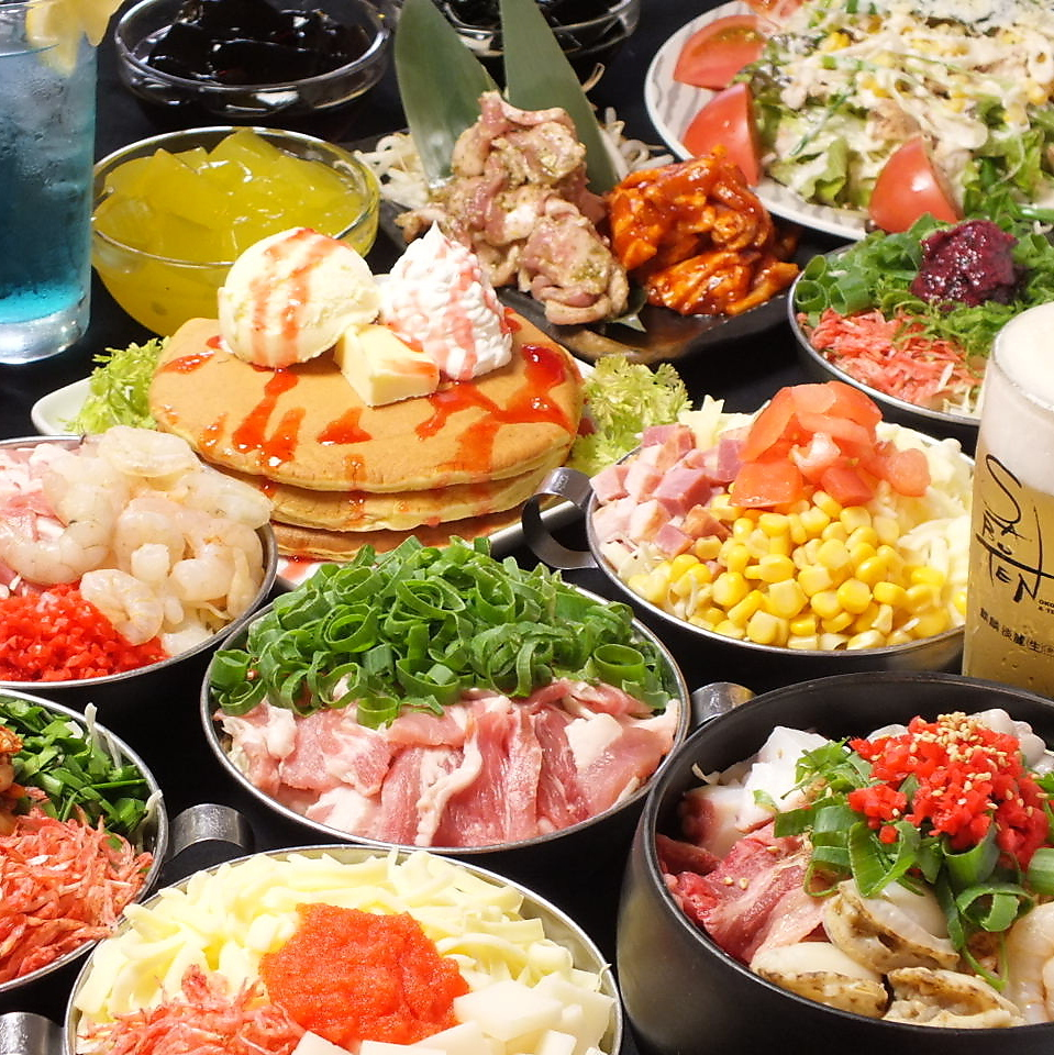 鉄板焼盛合付きの食べ飲み放題スペシャルプラン!