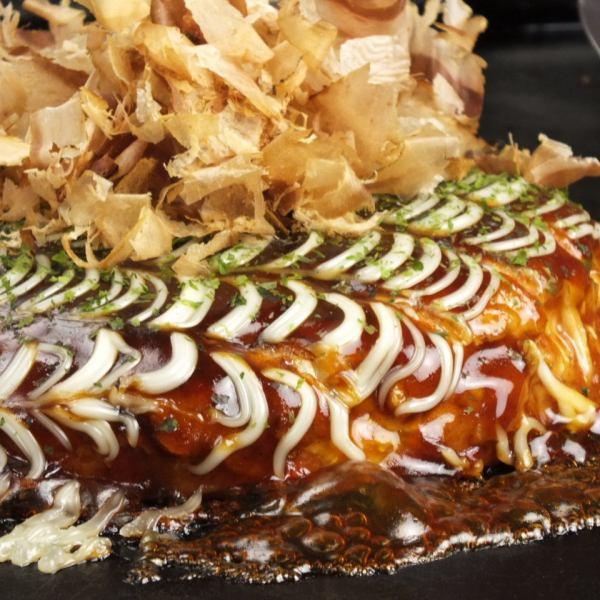 감자 듬뿍 푹신 푹신 오코노미 야키!