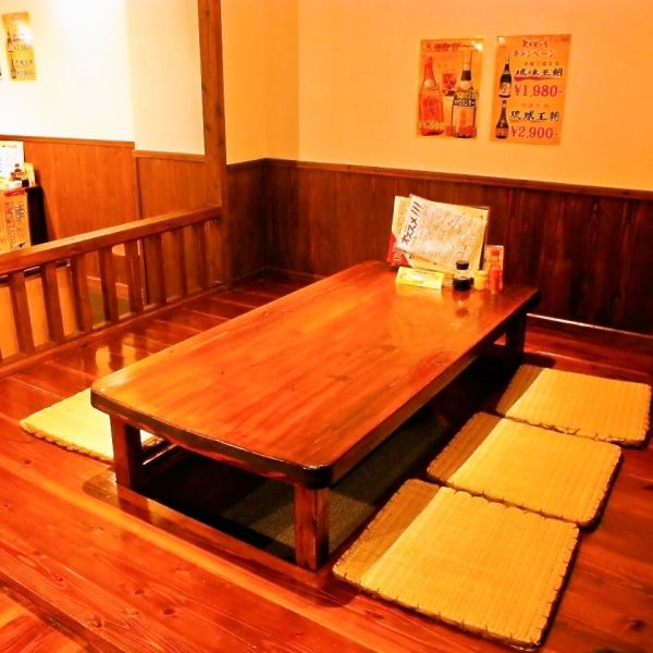 There is also a digging seat where you can enjoy your meal slowly without listening to Sanshin live.Recommended for use by friends, couples, and families.