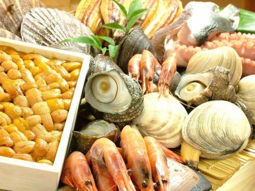 築地市場から直送の鮮魚