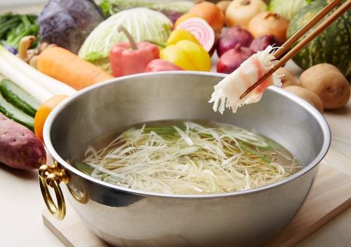 【Stock pork shabu-shabu】