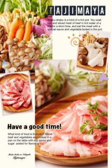 【Weekday】 Limited to 5 pairs a day! With drinking ★ Spanish pork roses · Pork loin · Oyama chicken & several vegetables All-you-can-eat course
