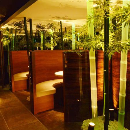 冷静的日本空间与竹林♪♪准备2个人♪