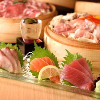 Assorted sashimi three points