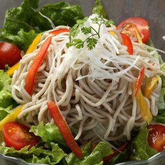 Boiled buckwheat salad with mountain aoyan mayonnaise dressing