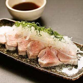 Matsusaka pig's cold shabu tailoring original pon vinegar sauce