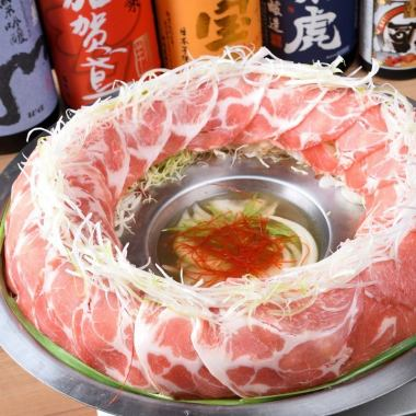 """Kaede """"Kaede"""" course [Popular! Matsuzaka pig's meat cooker] 2 hours with all you can drink 3,480 yen"""