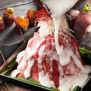圧巻!【肉タワー鍋コース】選べる松坂豚or牛タン 2時間飲放題付3980円