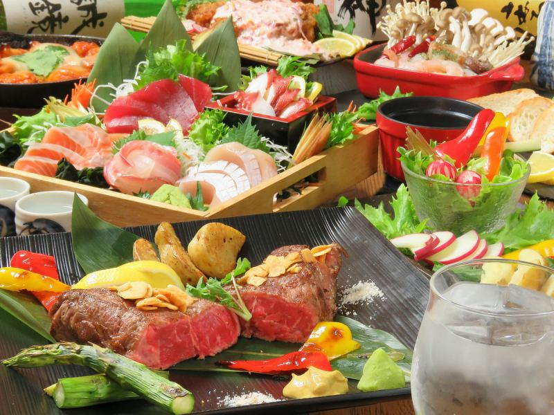 You can enjoy hot teppanyaki all-you-can-drink all-you-can-eat 120 minutes 2500 yen ♪