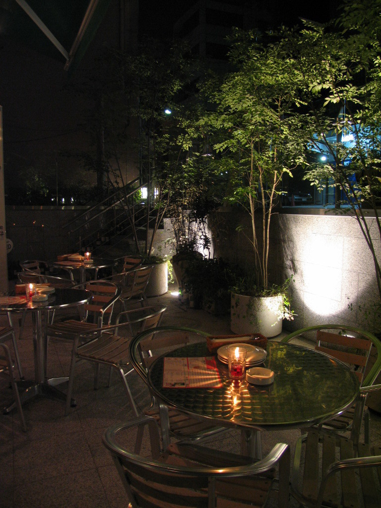 Terrace seating is delicious beer ♪