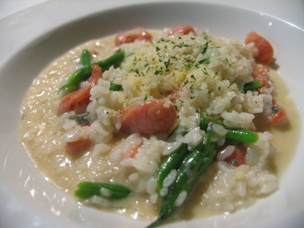 戈贡佐拉和有机蔬菜烩饭