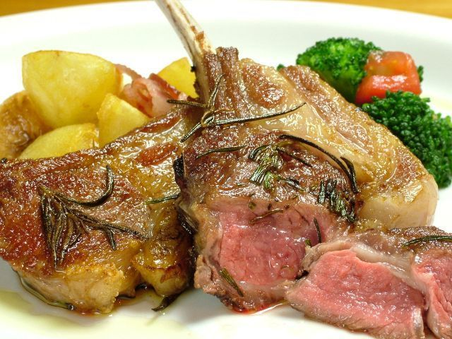 "Roast of Tasmanian lamb ""with granulated mustard"""