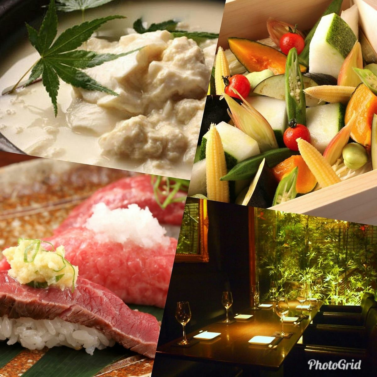 ◆ Ebisu's retreat home for celebrities to visit! Enjoy the four seasons of Kyoto cuisine and beauty in a fashionable shop