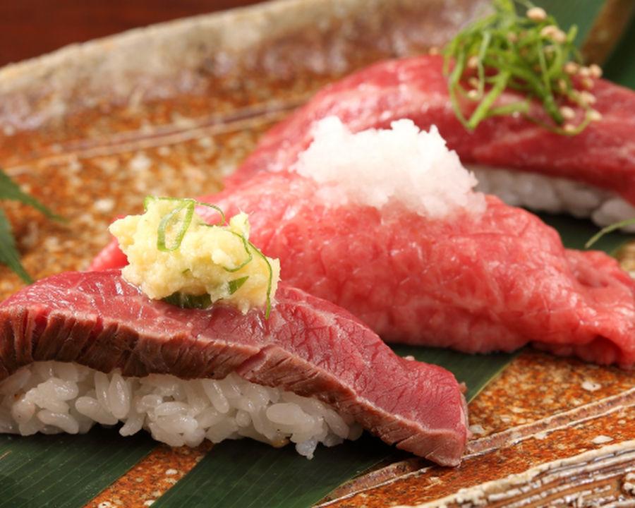 Kuroge Wagyu beef broiled sushi