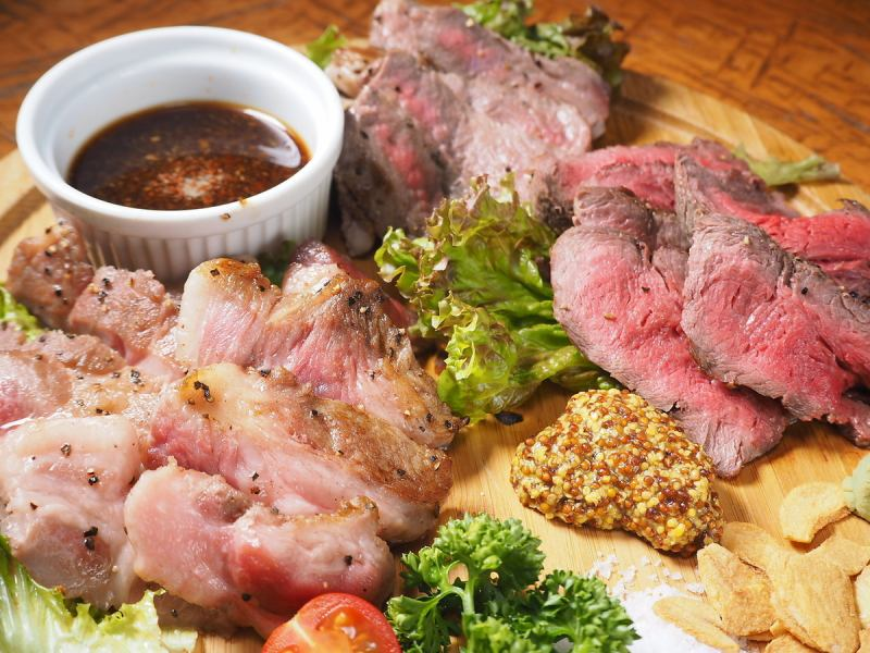 【Fluent tasty red meat ☆】 Various rare parts too! 3 kinds of carnival