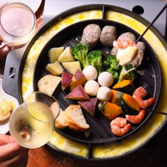 【Girls must-see! 3 hours with all-you-can-eat!】 On the day OK! Cheese fondue All 5 girls girls course 3000 yen
