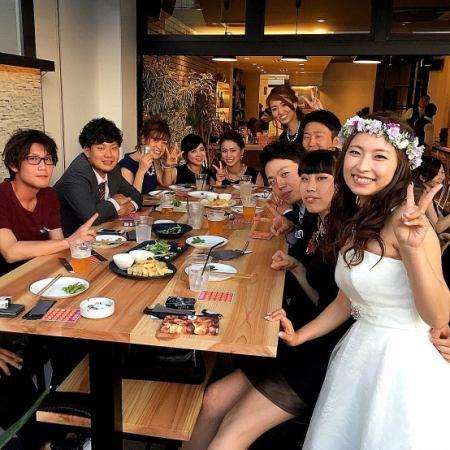 """- wedding ~ [테라스 석 전세】 뷔페 & 생맥주 OK! 2H """"뷔페""""포함 3500 엔"""