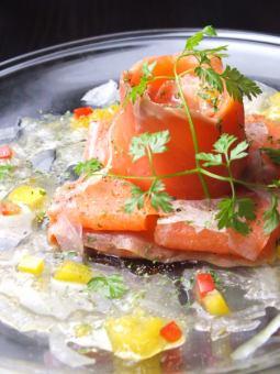 Smoked salmon citrus marinade