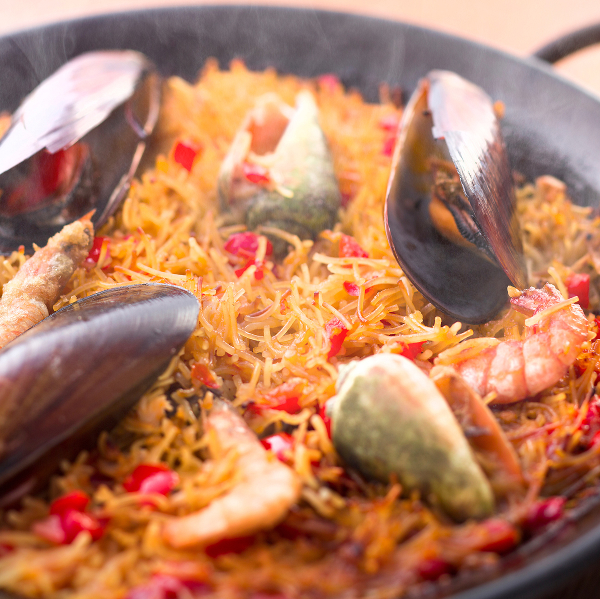 Hata的海鲜Fidia(短意大利面海鲜饭)