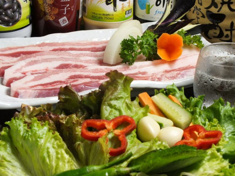 Raw Samgyeopsal set