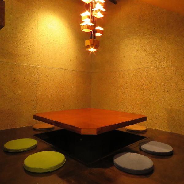ゆったり寛げる掘りごたつ席は、最大12名様までOK!ご友人同士の飲み会やお仕事帰りの飲み会にご利用下さい。