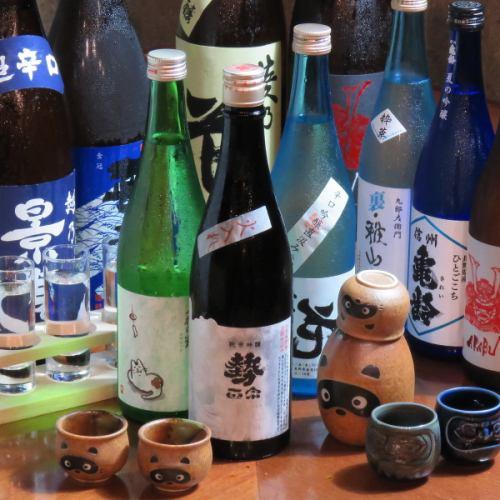 県内外の各種日本酒豊富に取り揃えております◎