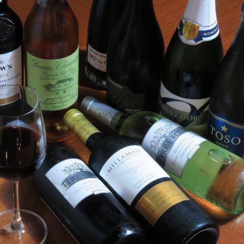 ワインも種類豊富にご用意◎お酒好きな方におすすめ!