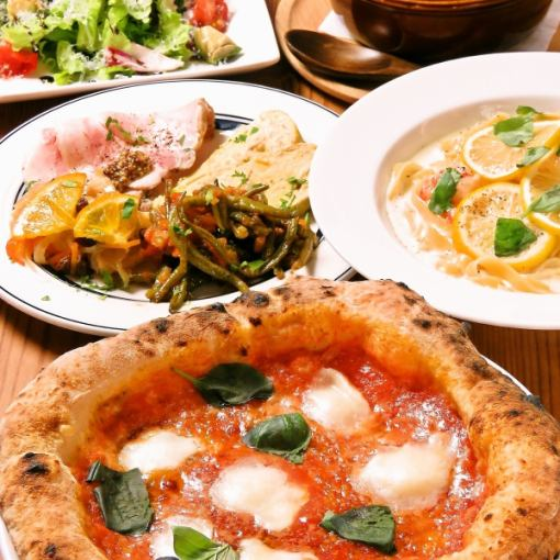 【推荐午餐女生派对!午餐时间确定】鸡肉和比萨饼和意大利面等6项当然3000日元♪