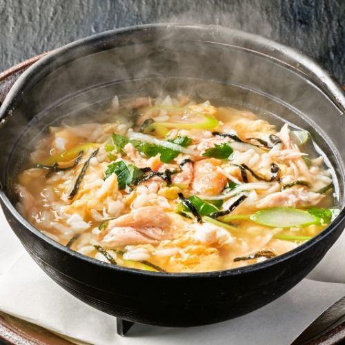 鮭と玉子の雑炊
