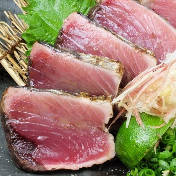 【特产秸秆刨花的第1人气♪】鲣鱼盐Tataki