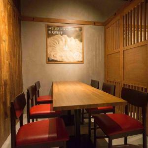2F プライベートへの空間にも配慮した半個室の席もご用意