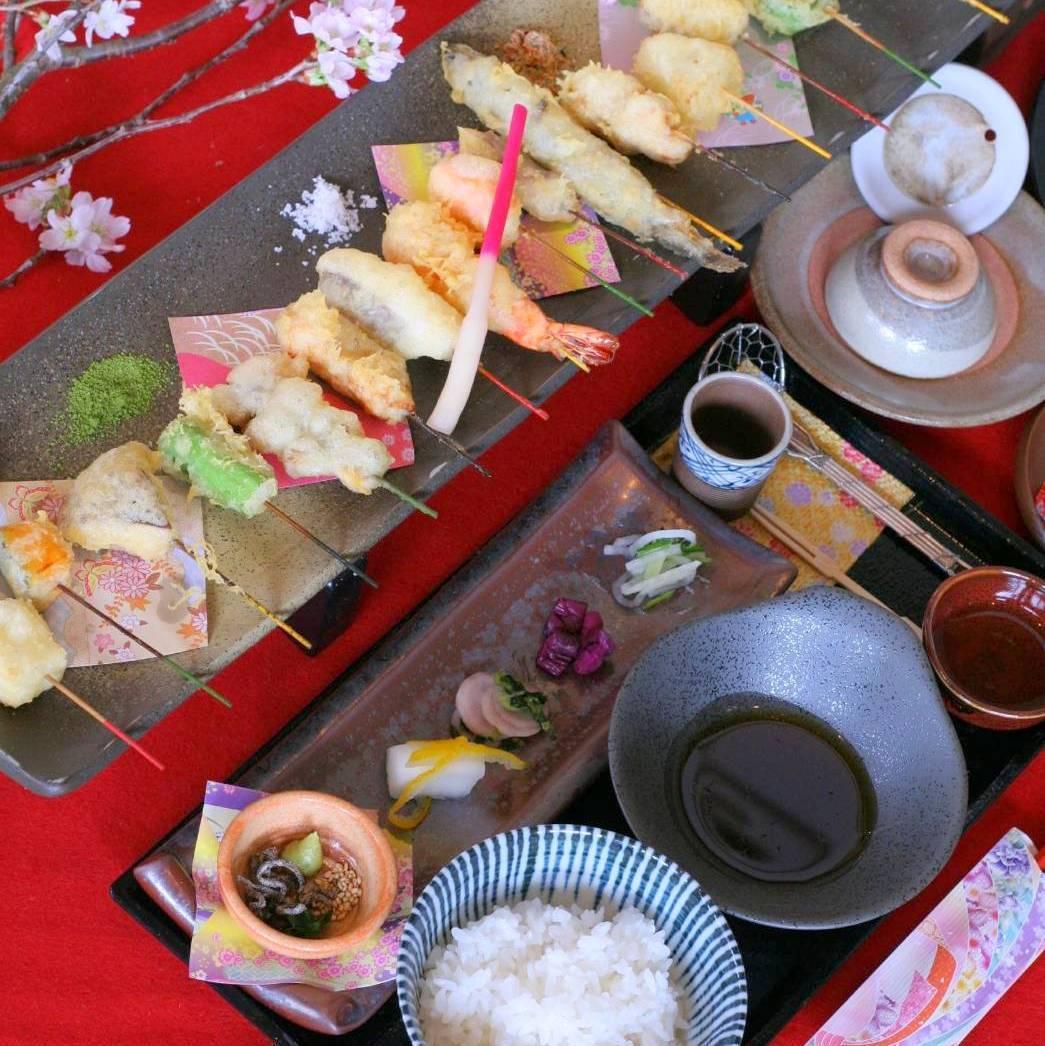串天ぷらを絶景と共に