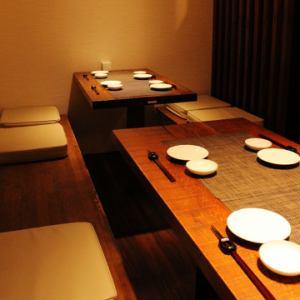 【宴会場】(こちらのお席は別館の宴会場です。本店ではございませんので、ご注意ください。)10名様OKのテーブル個室。1組限定の貴重なお部屋です。