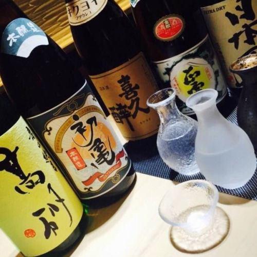 静岡の純米酒10種以上…その他全国の日本酒や焼酎を