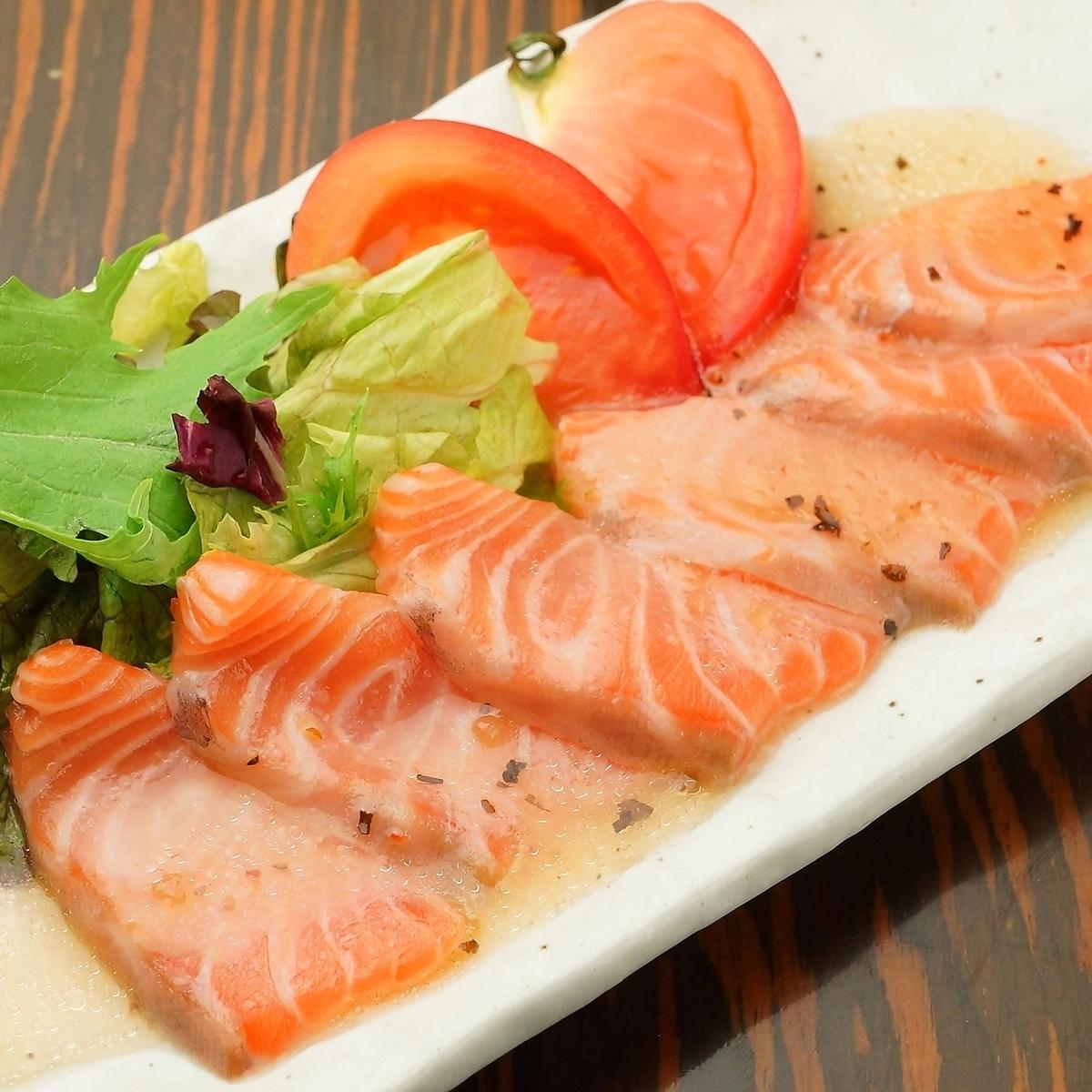 Toro salmon carpaccio
