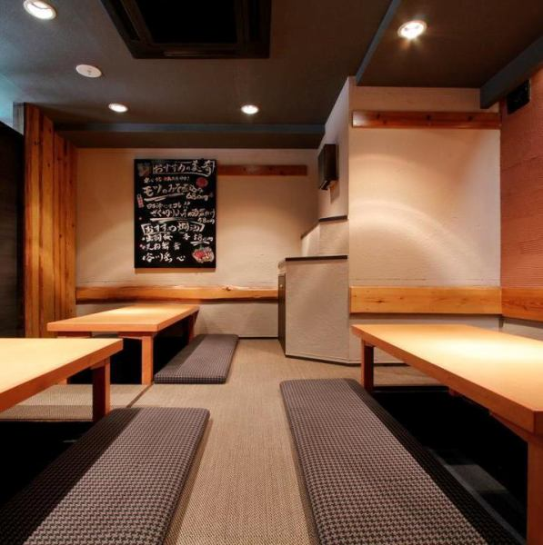 The semi-private room of digging tin can be accommodated up to 40 people! Please use for various gatherings such as girls' party, banquet etc ★ Chofu / Izakaya / All you can drink / Sake / Private room / Chart / Course / Sashimi / Fish / Meat / tasty