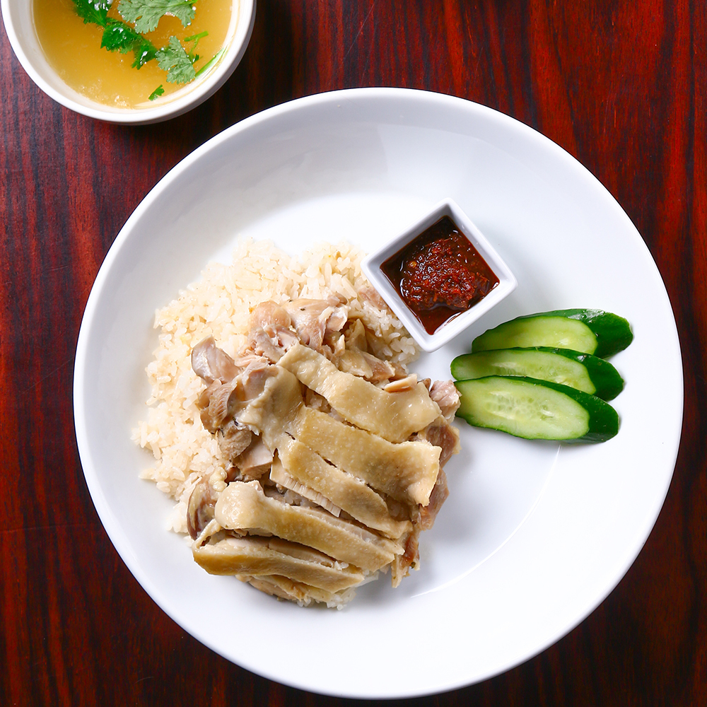 A dish of Thai cuisine, classic Kaomangai, combined with local produce.