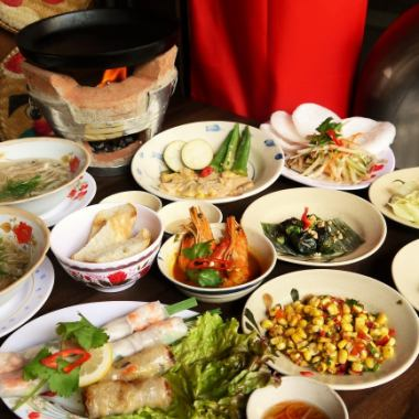 【All-you-can-drink menu with 90 minutes】 5000 yen course / Goyukun · Vietnam 4 kinds of stall dishes serving 11 pieces / one person 5000 yen