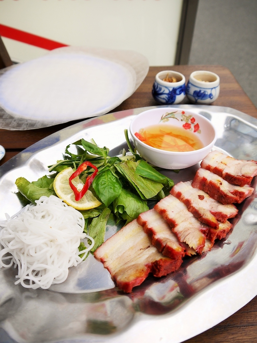 Vietnamese barbecue ~ Rice paper rolled ~