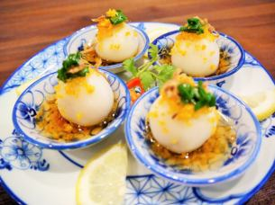 Bain'itto (glutinous rice cake steamed dumplings of shrimp)