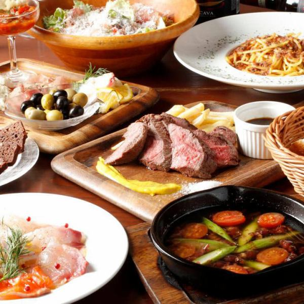 秘書先生必看!派對套餐包括無限暢飲,包括葡萄酒自助餐★2小時2980日元〜