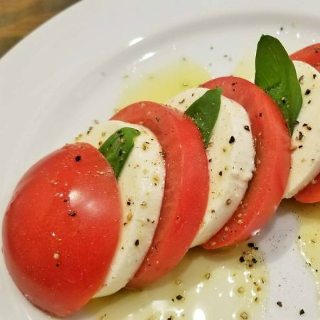 Caprese of tomato and mozzarella