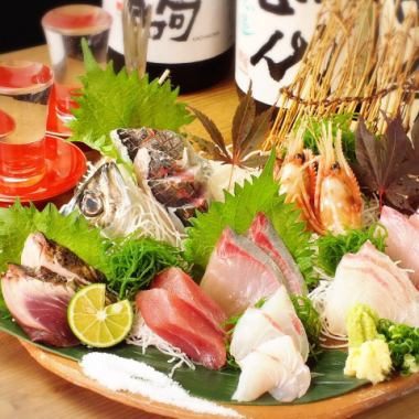 "Staff push! Enjoy the taste of each season ""Plush Sashimi Assortment"""