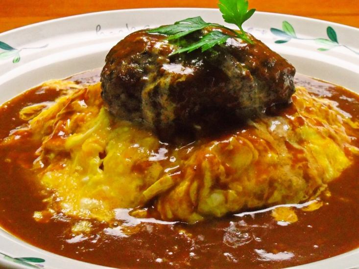 Omrice含有100%国产牛肉汉堡牛排。