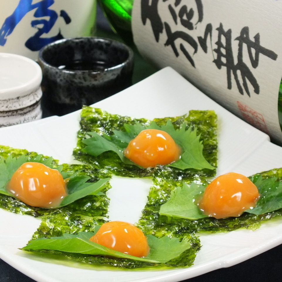 醃製煎蛋捲配韓國膠水