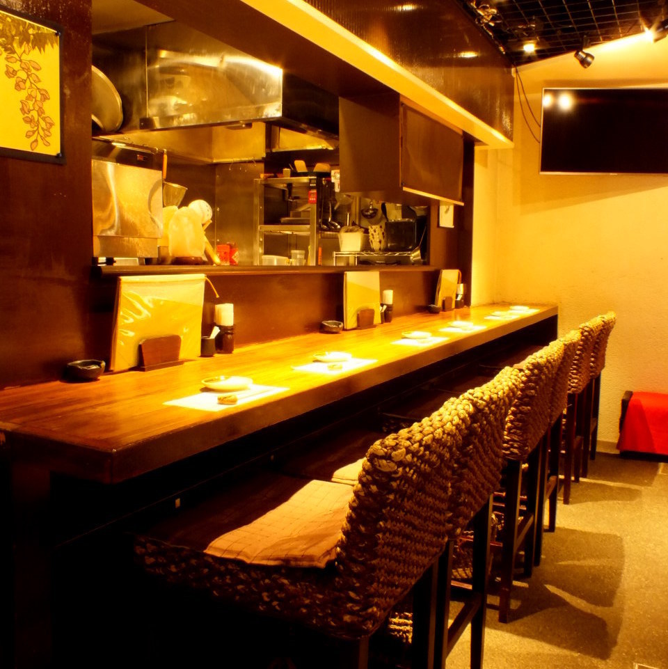 【Counter seating × 6】 Counter seats are drinking saku and also ★ use of couples etc.