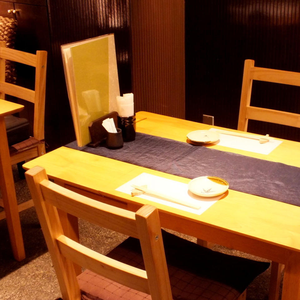 【2 people table seat】 Interior decoration based on Japanese is our commitment.Recommended to be eaten with important people.