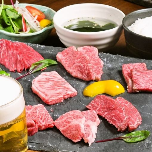 【Luncheon / 1 drink included】 One store push! Seperate Kuroge Wagyu beef seed set 2000 yen (tax included)