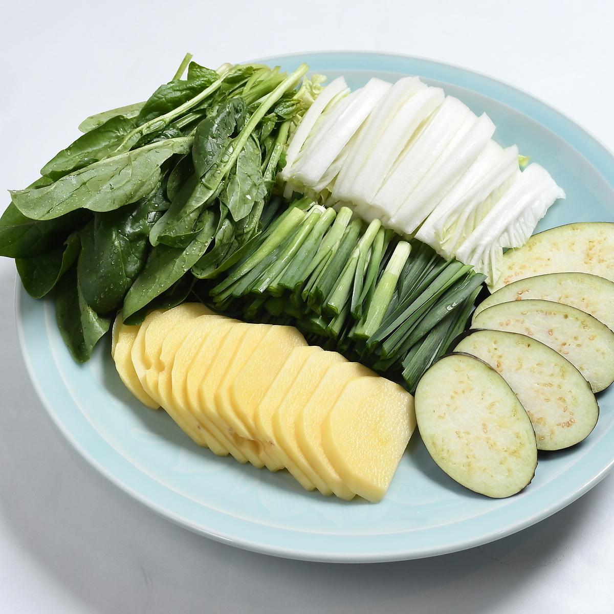 Assorted vegetables (5 varieties) Large
