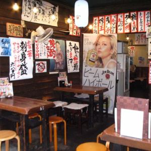 Feel free to enjoy skewers and sake in a retro space with a great atmosphere ★